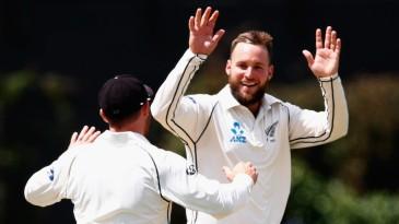 Mark Craig celebrates a wicket