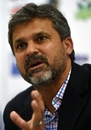 Moin Khan at the announcement of Pakistan's World Cup squad, Karachi, January 7, 2015