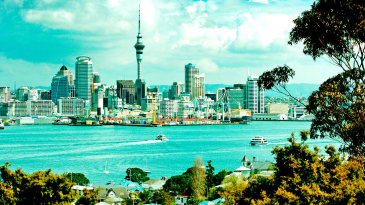 A general view of the Auckland skyline
