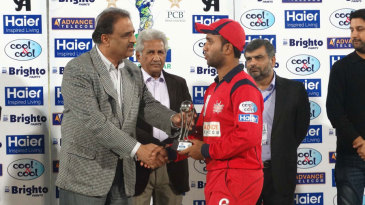 Sami Aslam was named Man of the Match for his 92