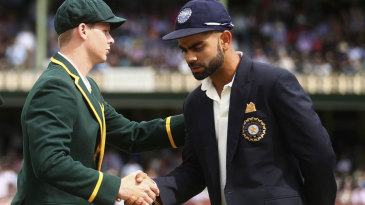 Steven Smith and Virat Kohli at the toss