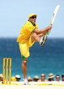 Damien Fleming was not shy of inventing a few shots at beach cricket, Perth, January 27, 2007