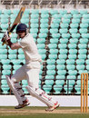Shrikant Wagh attacks the off side, Vidarbha v Saurashtra, Ranji Trophy, Group B, Nagpur, 2nd day, January 14, 2015