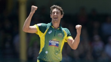 Mitchell Starc struck with the first ball of the match
