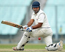 Imran Haroon sweeps during his debut century, Bengal v Jammu & Kashmir, Ranji Trophy, Group A, Kolkata, 4th day, January 16, 2015