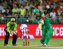 Kevin Pietersen muscled 10 fours and a six during his 42-ball 67, Sydney Thunder v Melbourne Stars, BBL 2014-15, Sydney, January 17, 2015