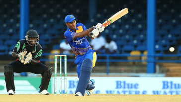 Kraigg Brathwaite whips the ball to the leg side