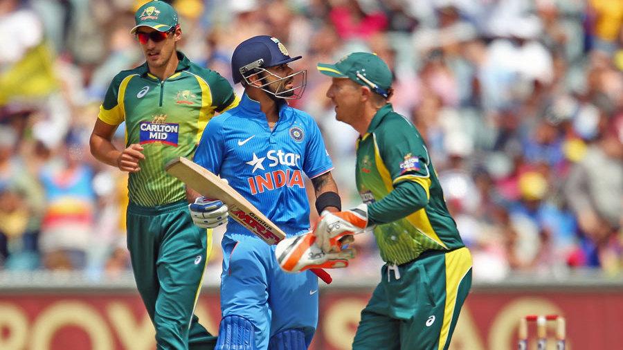Virat Kohli was dismissed for 9
