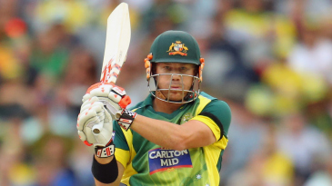 David Warner swatted three fours in his innings