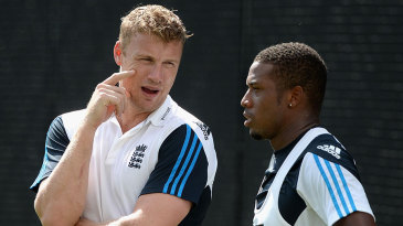 Andrew Flintoff was back in an England shirt, albeit only in the nets