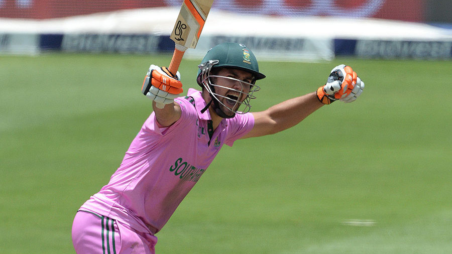 Rilee Rossouw went through to a maiden ODI century