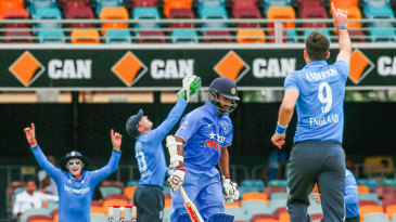 Shikhar Dhawan was dismissed by James Anderson for 1