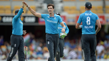 Steven Finn took three quick wickets to leave India stuttering