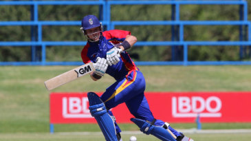 Gerhard Erasmus was named Man of the Match for his 83-ball 91