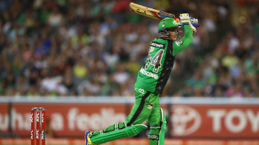 Peter Handscomb brought up his hundred with a six