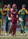 Narsingh Deonarine fell caught behind to Dale Steyn, South Africa v West Indies, 3rd ODI, East London, January 21, 2015