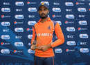 Ahsan Malik was named Man of the Match for his five-for, Netherlands v Uganda, ICC World Cricket League Division Two, Windhoek, January 23, 2015