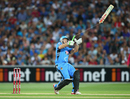 Breaking Bat: Craig Simmons gets an unusual sight of a broken bat, Adelaide Strikers v Sydney Sixers, BBL 2014-15, semi-final, Adelaide, January 24, 2015