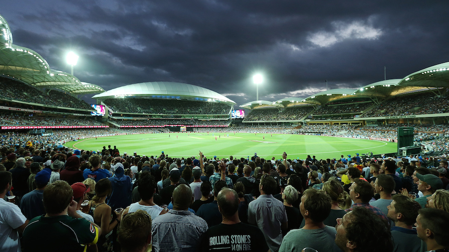 The redeveloped Adelaide Oval saw a record crowd of 52,633