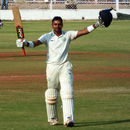 Shalabh Shrivastava celebrates his century, Gujarat v Vidarbha, Ranji Trophy, Group B, Surat, 4th day, January 24, 2015