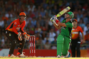 Kevin Pietersen executed a switch hit for a six, Perth Scorchers v Melbourne Stars, Big Bash League 2014-15, semi-final, Perth, January 25, 2015