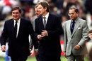 Tony Lewis, Tony Blair, Lord MacLaurin and Jagmohan Dalmiya at the 1999 World Cup opening ceremony, Lord's, May 14, 1999