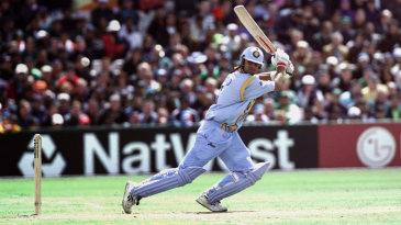 Rahul Dravid cuts on his way to 53