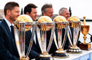 Ricky Ponting, Michael Clarke, Allan Border and Steve Waugh with the World Cup trophy, Sydney, November 6, 2014