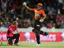 Yasir Arafat celebrates the final-ball victory, Perth Scorchers v Sydney Sixers, BBL final, Canberra, January 28, 2015