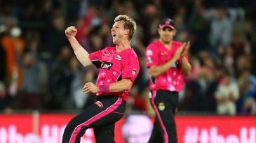 Brett Lee was on a hat-trick in his final over in T20 cricket
