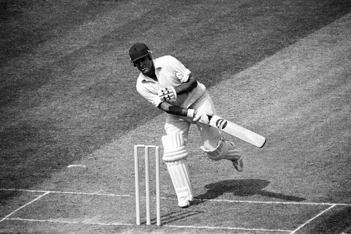 Geoff Boycott is hit on the shoulder