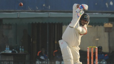 Yuvraj Singh drives the ball