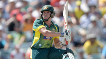 James Faulkner hits out for six