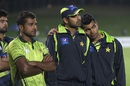 Pakistan players look disappointed after the 2-0 series loss, New Zealand v Pakistan, 2nd ODI, Napier, February 3, 2015