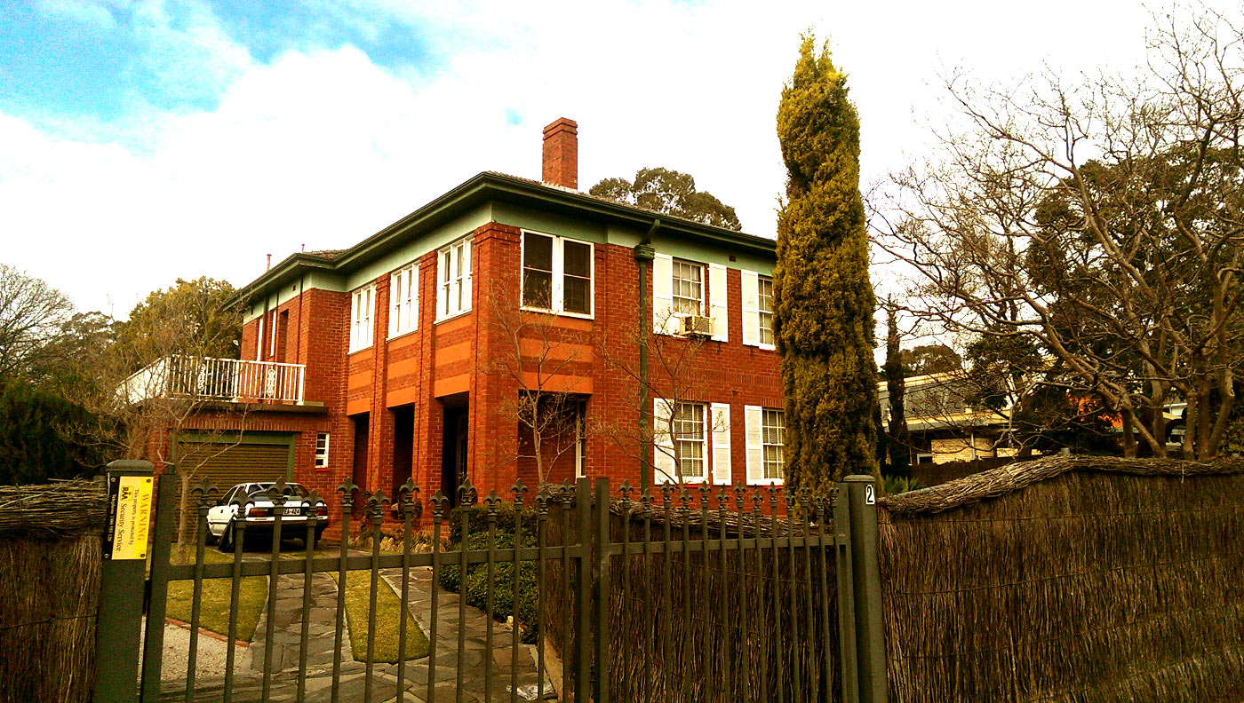The venue: Bradman's home on Holden Street, Adelaide, where he and Kerry Packer met in February 1979