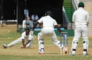 Odean Brown fails to latch on to a chance offered by Anthony Bramble, Jamaica v Guyana, Regional 4 Day Tournament 2014-15, 1st day, Kingston, February 6, 2015