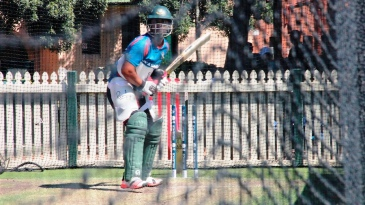 Tamim Iqbal bats in the nets at the SCG