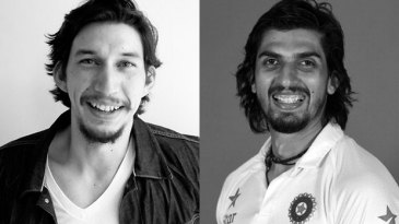 Composite: Adam Driver and Ishant Sharma