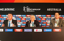 John Harnden, David Richardson and James Sutherland tackle a few questions, World Cup 2015, Melbourne, February 10, 2015
