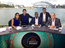 Isa Guha, Raunak Kapoor, Michael Holding, Ajit Agarkar and Jonathan Trott at the Match Point studio , Sydney, February 12, 2014
