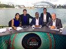 Isa Guha, Raunak Kapoor, Michael Holding, Ajit Agarkar and Jonathan Trott at the Match Point studio , Sydney, February 12, 2014