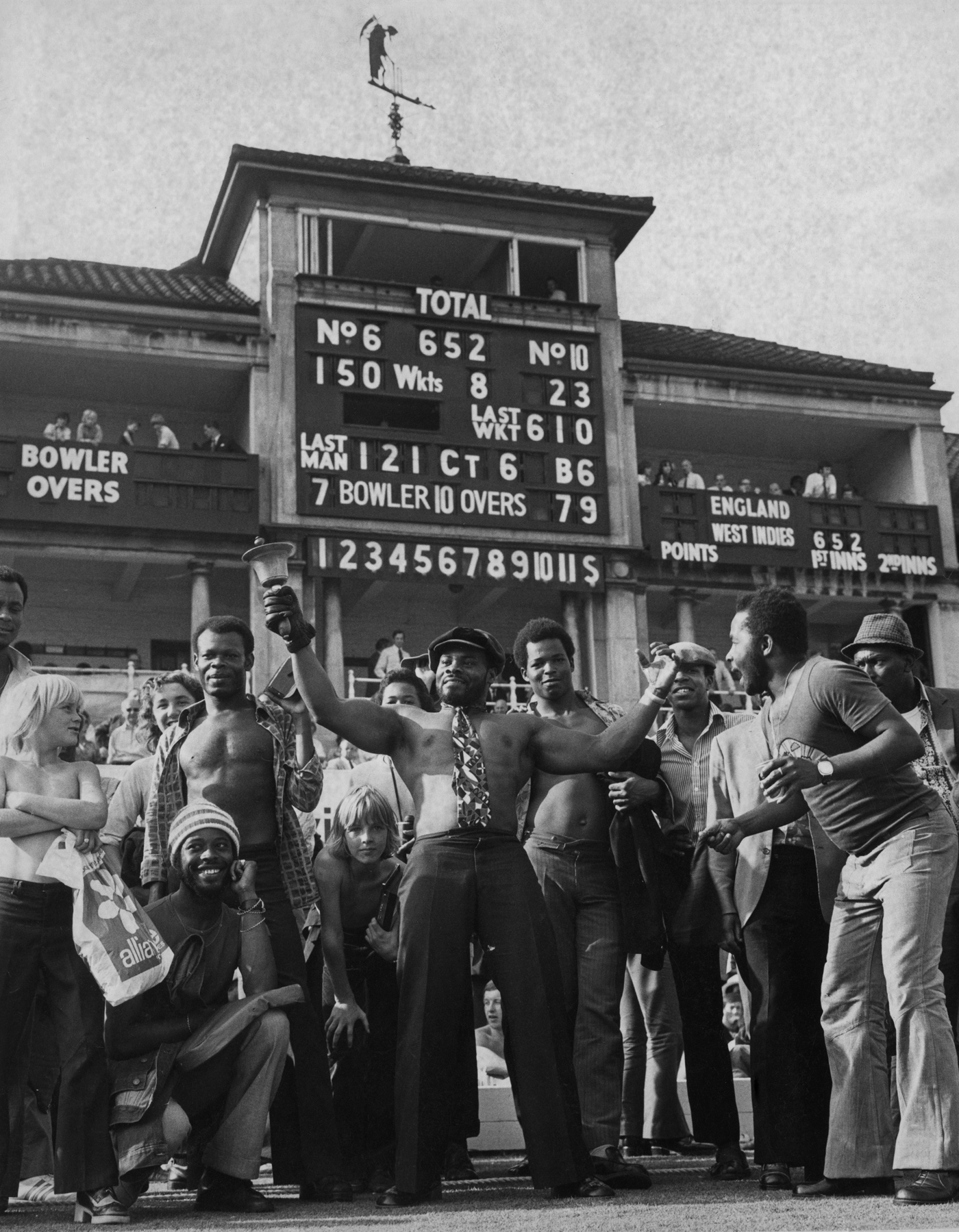 Groovy times: West Indian fans glory in their team's deeds at Lord's in 1973