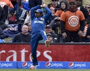 Jeevan Mendis takes a sharp catch in the deep to dismiss Brendon McCullum, New Zealand v Sri Lanka, Group A, World Cup 2015, Christchurch, February 14, 2015
