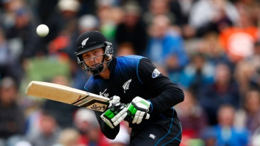 Martin Guptill made 49 before he was dismissed by Suranga Lakmal