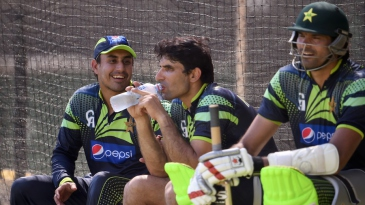 Misbah-ul-Haq cools off with Nasir Jamshed
