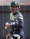 Younis Khan finds a reason to laugh in the nets, World Cup 2015, Adelaide, February 14, 2015