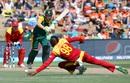 Tafadzwa Kamungozi grabbed eyeballs with his funky hairstyle, South Africa v Zimbabwe, Group B, World Cup 2015, Hamilton, February 15, 2015