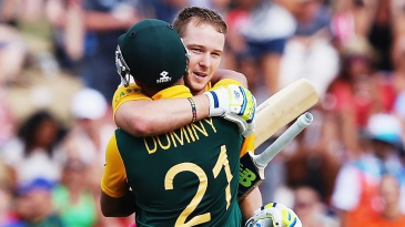 David Miller and JP Duminy scored centuries to power South Africa to 339