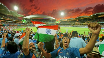 Indian fans enjoy themselves at the Adelaide Oval