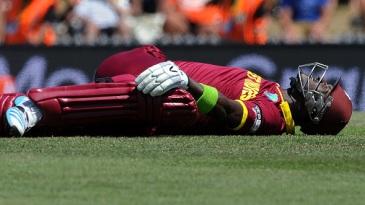 Darren Sammy stretches out